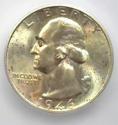 1946-S Washington Silver 25 Cents Icg Ms67 Price Guide Valued At $385!!