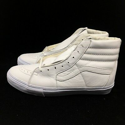 60f67fe875 Vans Vault Sk8-Hi LX Leather All White VN000KXI1NT WTaps bones Fog Off White
