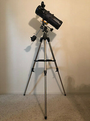 Celestron AstroMaster 114EQ Reflector Telescope With Steel Tripod