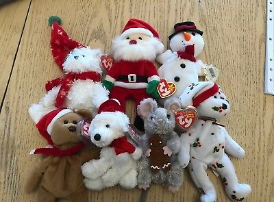 Beanie Babies Lot of 7 Christmas collection ty