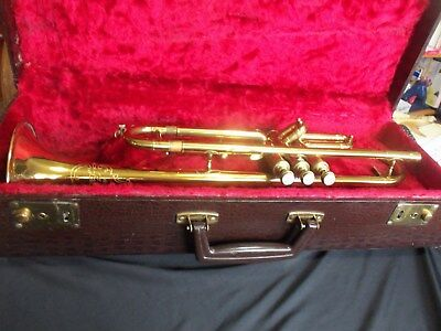 beautiful vintage [ henri lavelle ] brass trumpet ser. # 3969