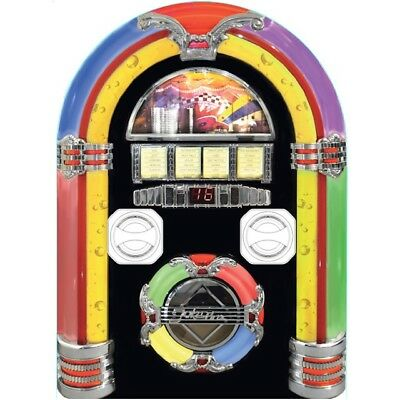Wall Mounted Bluetooth Jukebox Stereo Speakers USB Aux MP3 Vintage Steepletone