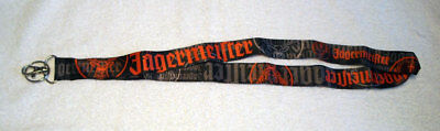 JAGERMEISTER Satin Lanyard ID Badge Holder Key Chain Black Orange Grey Logo NEW