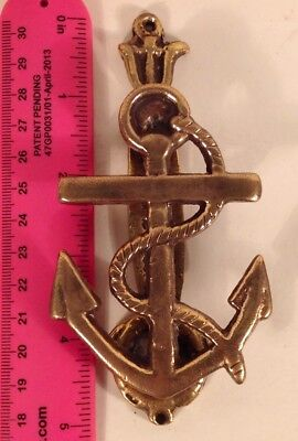 NAVY Military Brass Anchor Door Knocker Sailor Nautical