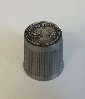 Thimble Indiana 1816 State Souvenir Travel Pewter Metal Sewing Collectible