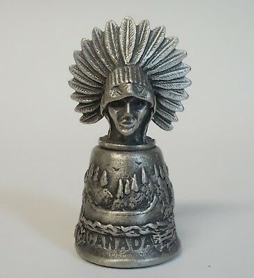 Thimble Canada Native American Souvenir Wapw Pewter Metal Sewing Collectible