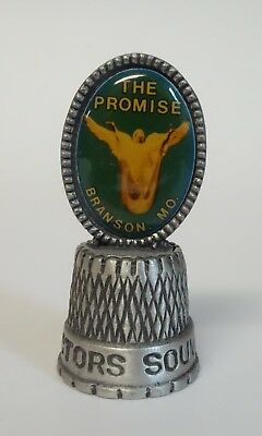 Thimble Branson Missouri Souvenir The Promise Pewter Metal Sewing Collectible
