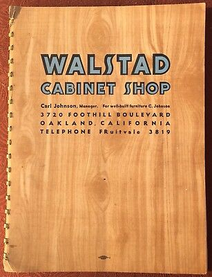 1930's Oakland, Calif. WALSTAD CABINET SHOP Catalog of Wooden Furniture 20+ Pgs.