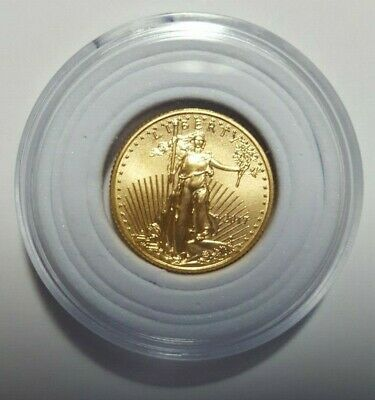 2017 1/10 oz Gold American Eagle $5 Flowing liberty Coin. Great starter coin