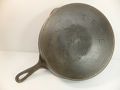 PRE- GRISWOLD # 10 A ERIE Cast Iron SKILLET Frying Pan Heat Ring HEAVY PITTING