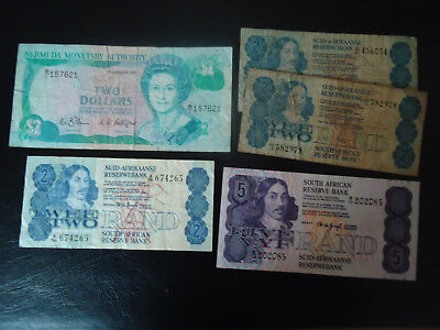 south african and Suid-Afrikaanes paper money