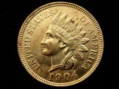 1904 Indian Head Cent Lovely Example!