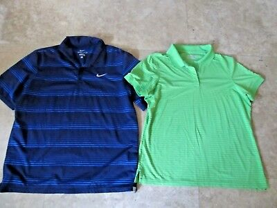 Lot, 2 mens size L,large polo, golf shirts, Under Armour, Nike