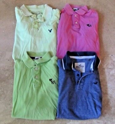 Lot, 4 mens size L,large polo shirts, Hollister, Abercrombie & Fitch