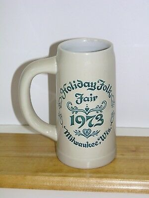 1973 Holiday Folk Fair Stein Milwaukee Wisconsin Ceramarte