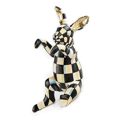 MacKenzie Childs Courtly Check Funny Bunny Rabbit - ADORABLE!