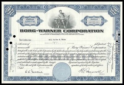 Borg-Warner Corporation (Automobile Components) 52 Shares Blue 1955 WYSIWYG!