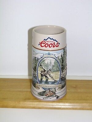 1993 Coors Rocky Mountain Legend Fishing Stein