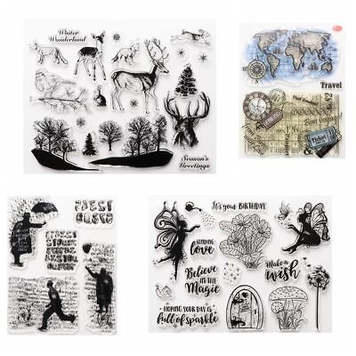 Clear Sheet DIY Crafts Transparent Stamps Deer Silicone Rubber Scrapbooking