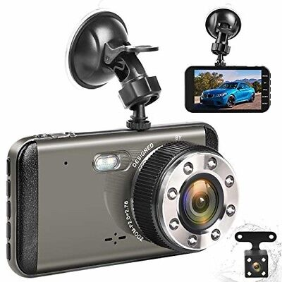 Effort Dual Dash Cam HD Front And Rear,H3 Night Vision Car Camera,4quot IPS