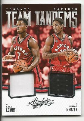 2015-16 Absolute Team Tandems Kyle Lowry / Demar Derozan (Toronto Raptors) 51/99