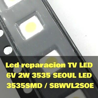 SEOUL Led TV 3535 x10pcs smd 6v 2w para reparacion TV led smd