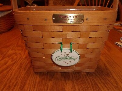 1994 Edition LONGABERGER DRESDEN BASKET, With tie-on