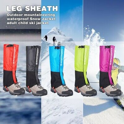 Outdoor Hiking Snow Ski Climbing Leg Shoe Cover Boot Legging Gaiters Waterproof