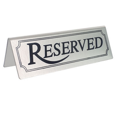 BarBits Stainless Steel Reserved Table Signs - Tent Type Restaurants Cafes Sign