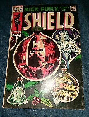 Nick Fury Agent Of S.H.I.E.L.D. #10, 1968 vg SHIELD Jim Steranko art Mycroft lot