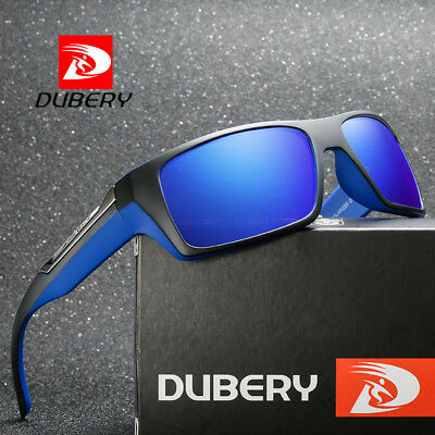 DUBERY Fashion Polarized Sunglasses Square Driving Sports Mirrored Eyewear UV400