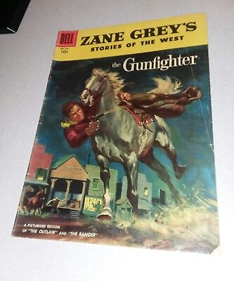"Zane Grey's Stories of the West #28 dell comics 1956 ""The Gunfighter"" western"