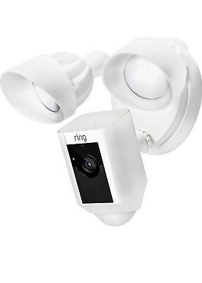 Ring Outdoor Wi-Fi Cam with Motion Activated Floodlight, White -