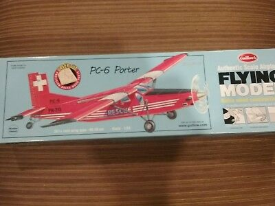 Guillows PC-6 Porter Laser Cut Free Flight Scale Kit