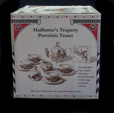 Cardew  Alice In Wonderland Mad Hatter Tea Party New Never Out Of Box Set Of 14