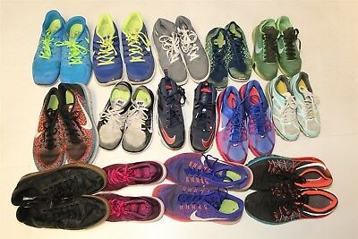 NIKE Lot Wholesale Used Shoes Rehab Resale FOURTEEN PAIR COLLECTION bXpR