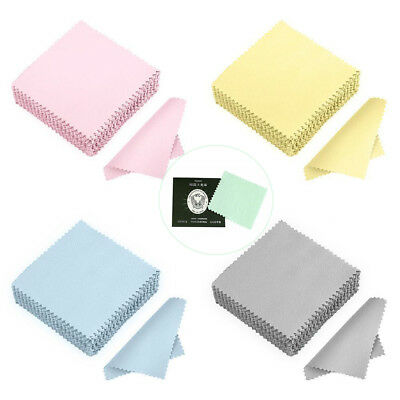 5PCS Silver Polishing Cloths Jewellery Cleaning Cloth Clean Polish Silver Ring