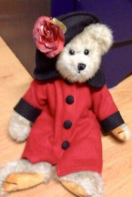 """Boyd's Bear """"Lillian"""" with Red Outfit and Hat"""