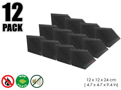 Hobby Dash 12 x 12 x 24 cm Multi-Cut Bass Trap Acoustic Studio Foam Panel 12 pcs