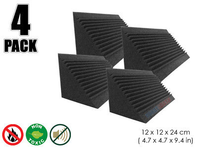 Hobby Dash 12 x 12 x 24 cm Multi-Cut Bass Trap Acoustic Studio Foam Panel 4 pcs