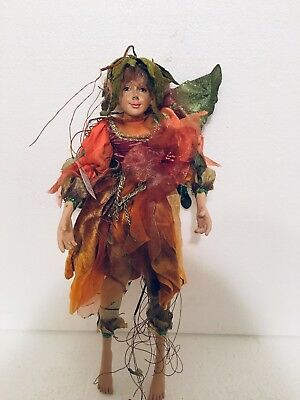 """New Vintage 15"""" Flying Fairy AAF Gold Label Christmas Traditions Doll Ornament"""