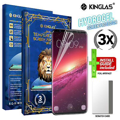 3X Kinglas HYDROGEL AQUA FLEX Screen Protector Samsung Galaxy S9 S10 Plus Note 8