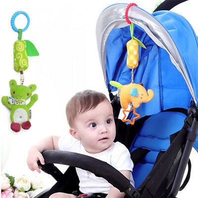 Newborn Baby Infant Crib Hanging Bell Cartoon Toys Stroller Bed Auto Hanging Toy