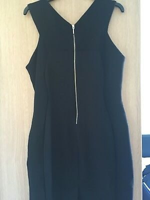 Ladies Next Bodycon Black Dress With Back Zip Size 16 Worn Once