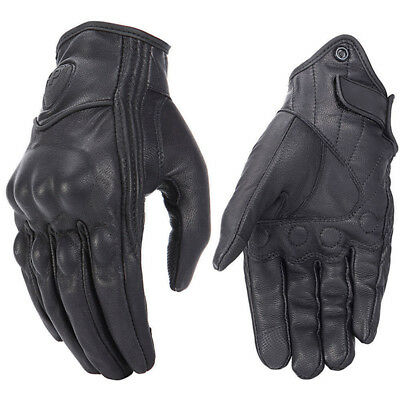 Retro Real Leather Motorcycle Gloves Moto Waterproof Gloves Motocross Glove