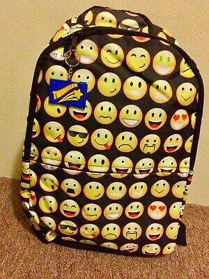 Multi-functional Backpacks for Boys Girls Smiley Emoji shoulder School Bags