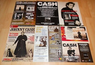 Johnny Cash - Lot Of Magazine Ads, Articles, Clippings