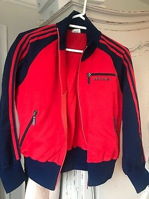 70s ADIDAS OLDSCHOOL CASUALS RETRO TRACK JACKET TRACKSUIT TOP