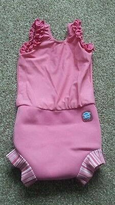 Pink Splash About Happy Nappy Swimming Costume Size Large age 6-14 months