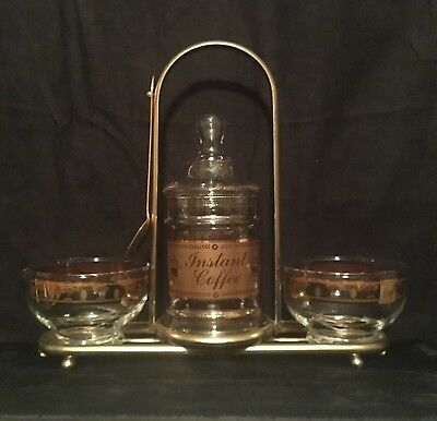 VTG Culver Signed Instant Coffee Set. Mid Century 50's-60s